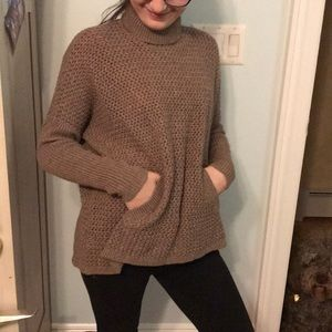 Loft cotton knit turtle neck sweater